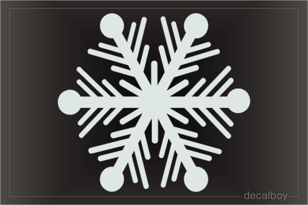 Snowflakes 3 Car Decal