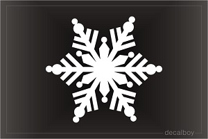 Snowflakes 5 Car Decal