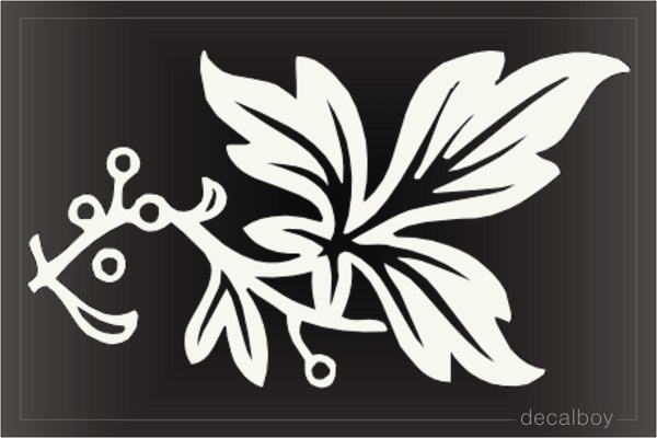 Floral Leafe Decal