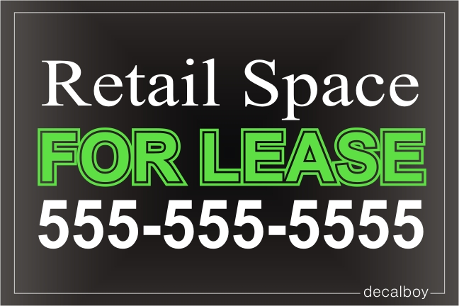 For Lease Sign Decal