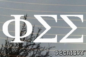 Phi Sigma Sigma Vinyl Die-cut Decal