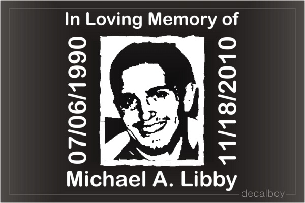 Face Photo On Memorial Decal