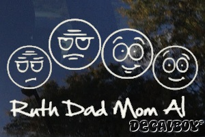 Family Faces Window Custom Decal