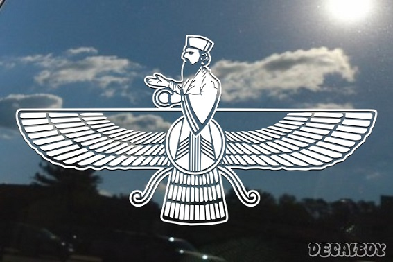 Faravahar Iranian Symbol Zoroastrianism Window Decal
