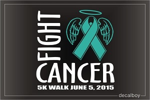 Fight Cancer Walk Decal
