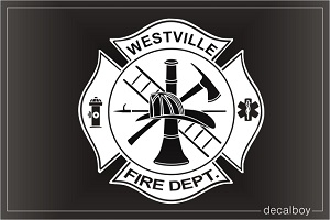 Firefighter Emblem Car Decal