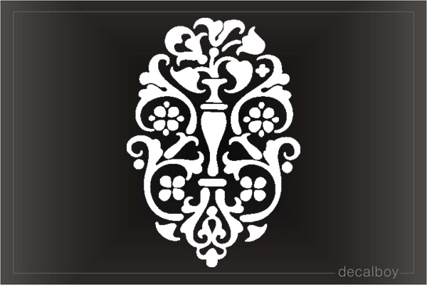 Floral Tattoo Tree Design Die-cut Decal
