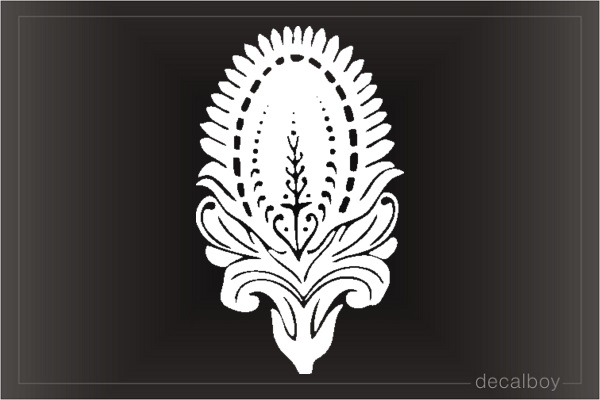 Floral Tattoo Tree Clipart Die-cut Decal