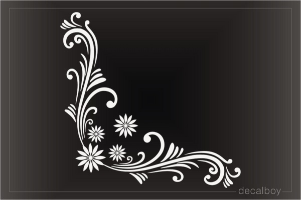 Floral Corner Decoration Die-cut Decal