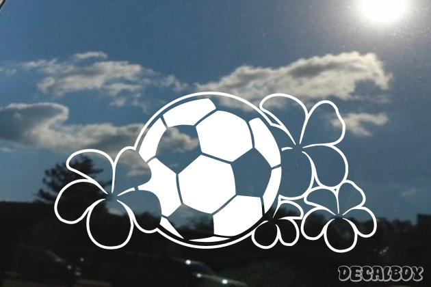 Flower Soccerball Window Decal