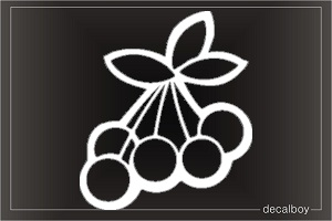 Cherries 6 Window Decal