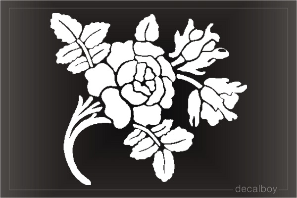 Rose Branch Window Decal
