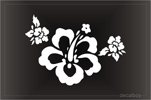 Hawaiian Flower 55 Car Window Decal