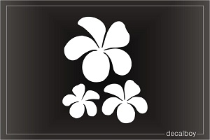 Hawaiian Flower Plumeria Car Window Decal