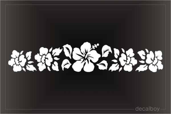 Hibiscus Hawaiian Flowers Car Window Decal