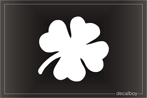 Shamrock Four Leaf Window Decal