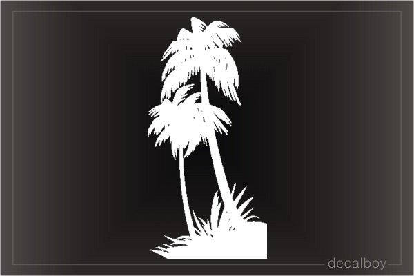 Palm Trees Window Decal