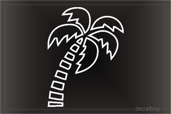 Palm Tree Tropical Coconut Window Decal