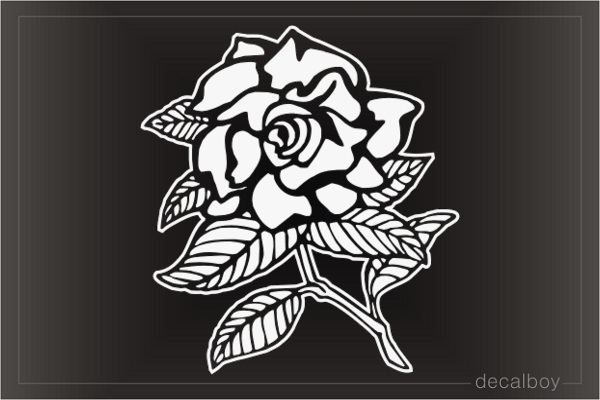 Rose Graphic Window Decal