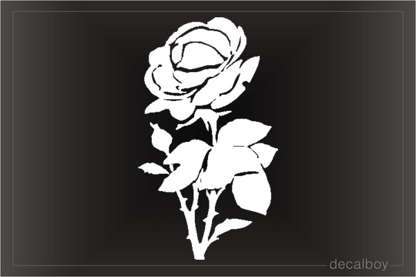 Rose Design Window Decal