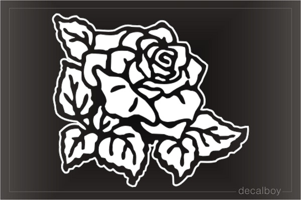 Rose Blooming Window Decal