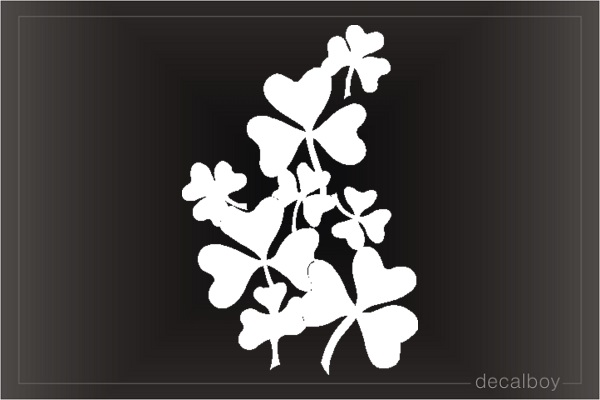 Shamrock Clipart Window Decal