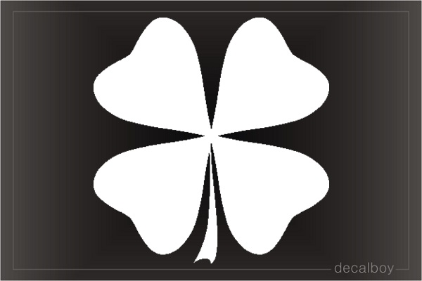 Clover Four Leaf Shamrock Window Decal