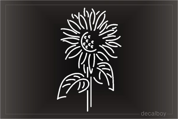 Sunflower 567 Car Window Decal