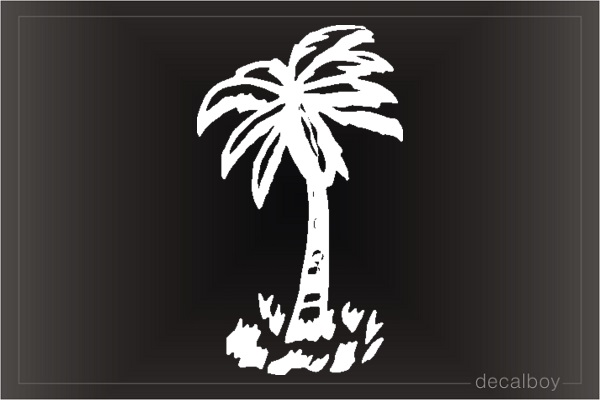 Palm Tree Window Decal