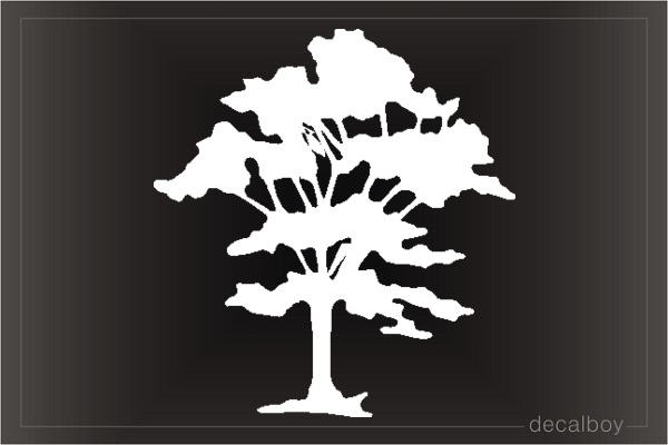 Tree Clipart Window Decal