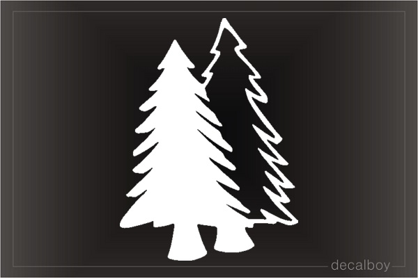 Pine Cone Tree Window Decal
