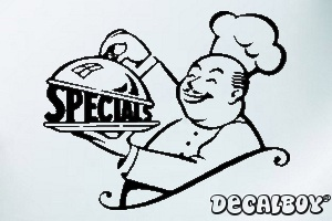 Special Chef Car Window Decal