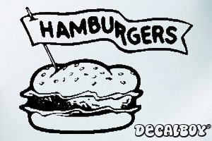 Burgers Car Window Decal