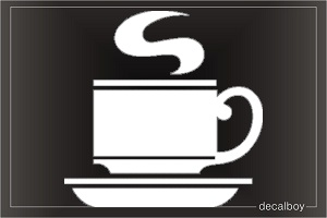 Cup Of Coffee Car Window Decal