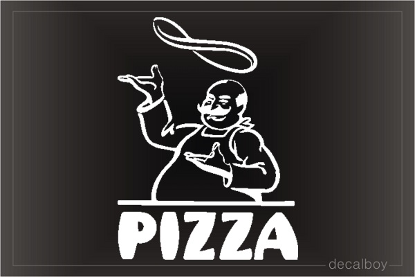 Pizza Car Window Decal