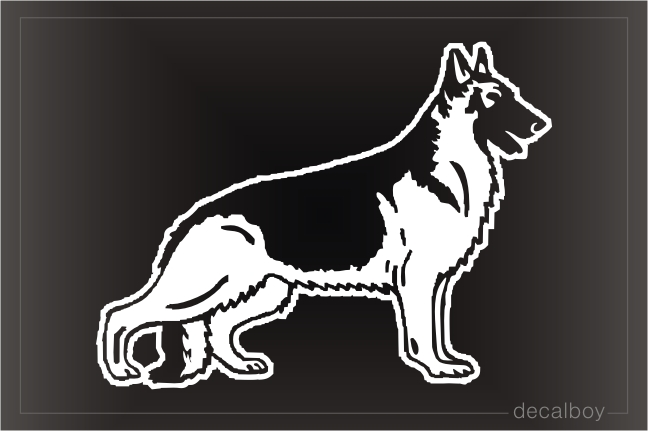 German Shepherd Car Window Decal