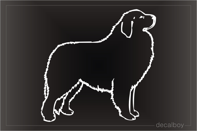 Great Pyrenees Car Window Decal