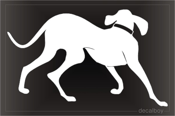 German Weimaraner Decal