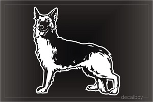 German Shepherd 1982 Car Window Decal