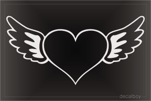 Heart Wings Angel Car Window Decal