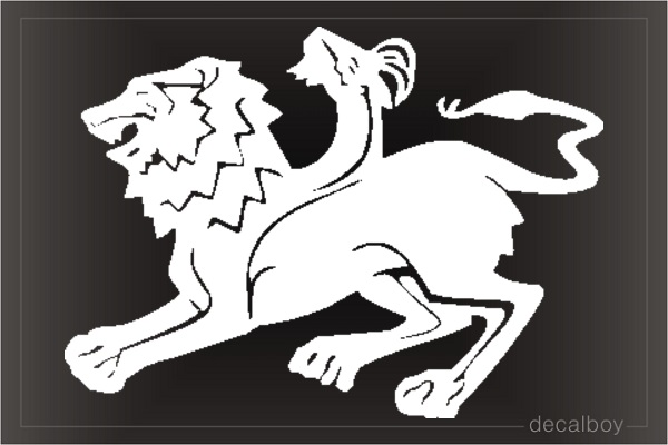 Greek Mythical Chimera Car Decal