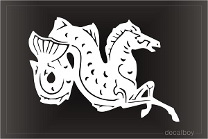 Greek Mythical Hippocampus Car Decal