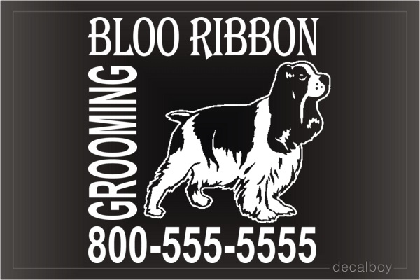 Grooming Salon Decal