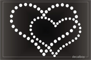 Hearts Love Car Window Decal