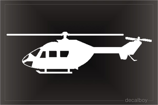 Helicopter Astar Window Decal