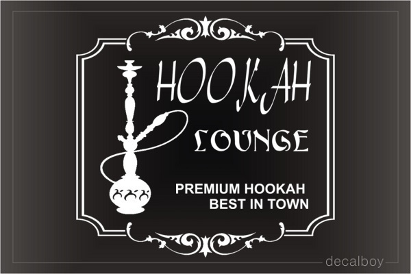 Hookah Lounge Decal