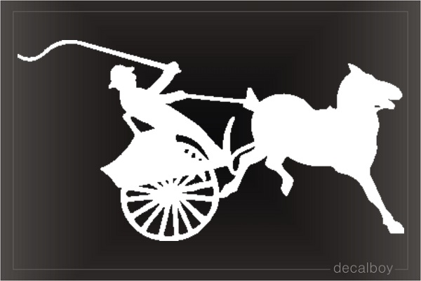 Horse Carriage Car Window Decal