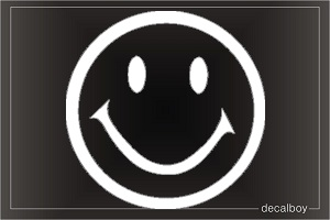 Happy Face Car Decal
