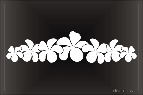 Hawaiian Flower Plumerias Car Window Decal