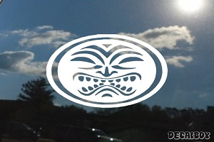 Hawaiian Tiki Car Window Decal